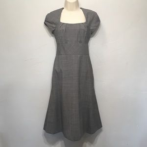 Banana Republic Grey Wool Cap Sleeve Dress